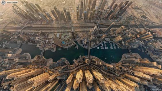 Dubai, Aerial View.