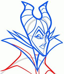 how to draw maleficent from sleeping beauty step 7