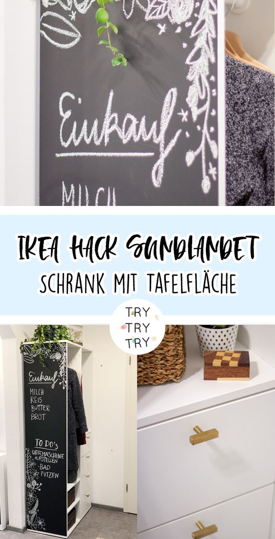 IKEA HACK: SUNDLANDET Schrank mit Tafelfläche