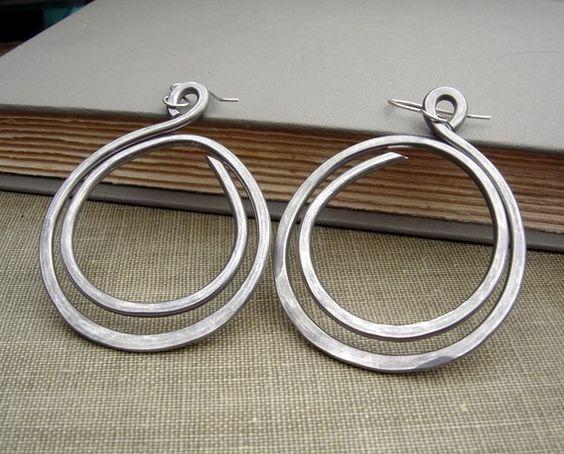 very big hoop earrings double hoop loop light weight. Black Bedroom Furniture Sets. Home Design Ideas