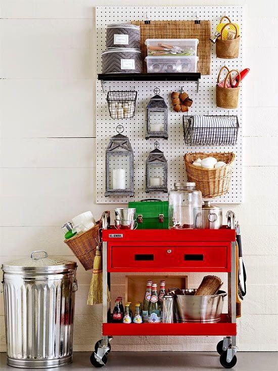 Organizando as ferramentas, a garagem, o depósito, oficina...via BHG: