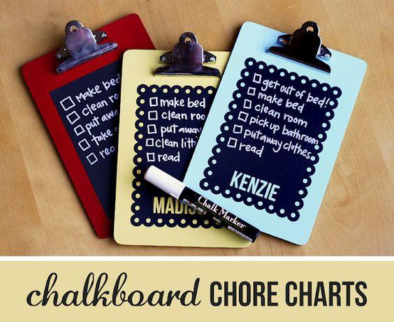 chalkboard chore charts