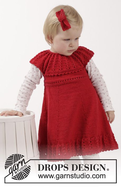 Free Knitting Patterns For Girls Dresses : Little Hedda - Free Knitting Pattern for Girls Dress Knits for kids ...