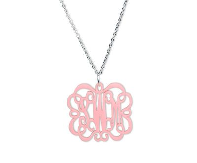 Acrylic Emma Monogram Necklace