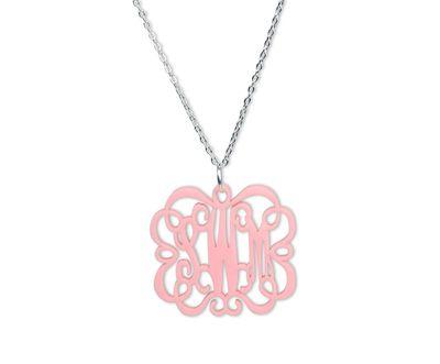 Acrylic Emma Monogram Necklace