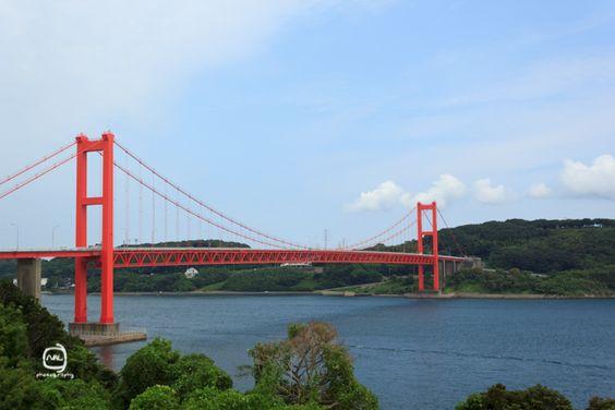nalブログ。写真と旅と言葉たち nalblog.com 九州夏旅行平戸島から生月島へ つなぐ  つながる  あちらと  こちら  行ったり来たり  赤い橋  明日もつないで…