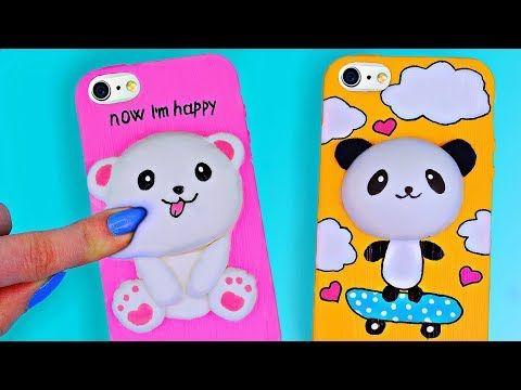 Diy Viral Squishy Phone Cases Amazing Diy Phone Cases Case Antistress 3d Youtube Diy Phone Case Miniature School Fun Diys