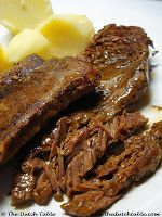 """Dutch Pot Roast (Draadjesvlees) Recipe - The Dutch Table -  Draadjesvlees literally means """"meat cooked to the threads"""". This is one of Holland's favourite meats. It's generally a cheaper cut of beef, braised for several hours"""