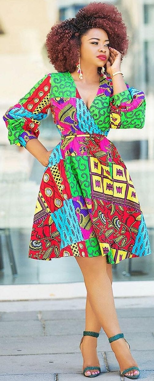 Beautiful Floral Ankara Dress