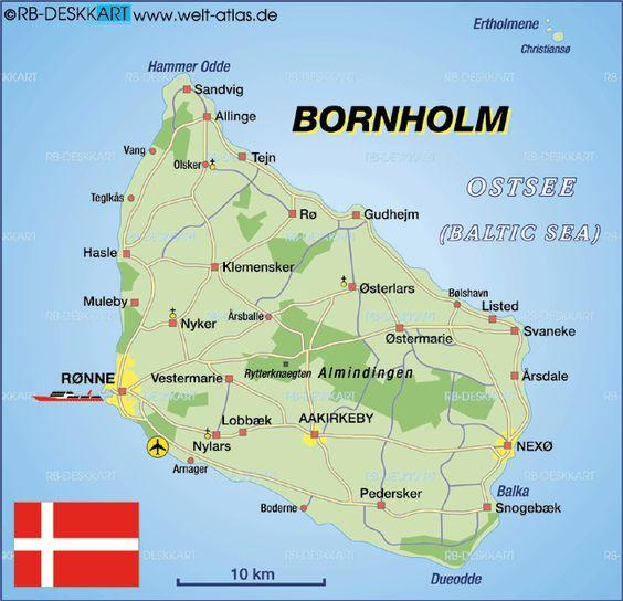 Map Of Bornholm Denmark Map In The Atlas Of The World World Atlas Bornholm Denmark Map Denmark