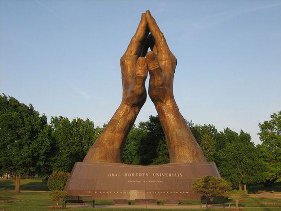 ORU 60 ft. Praying Hands.