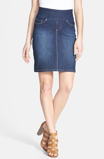 Jag Jeans 'Eloise' Pull-On Stretch Denim Skirt (Regular & Petite) | Nordstrom - my kind of skirt!