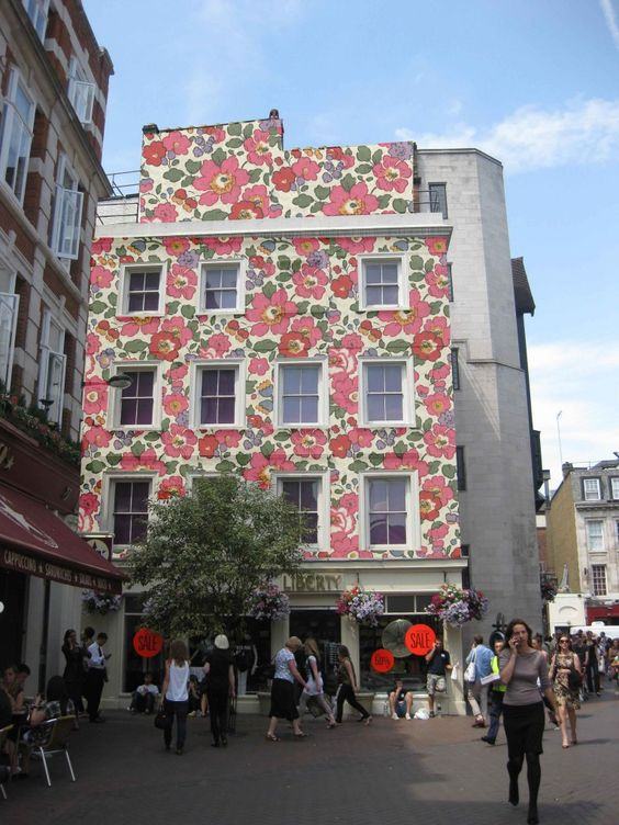 Liberty of London...not really street art, but lovely pattern and floral design