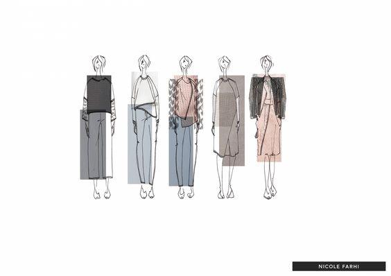 Fashion Sketchbook - fashion drawings; line up; fashion illustrations; fashion portfolio // Alexandra Bruner
