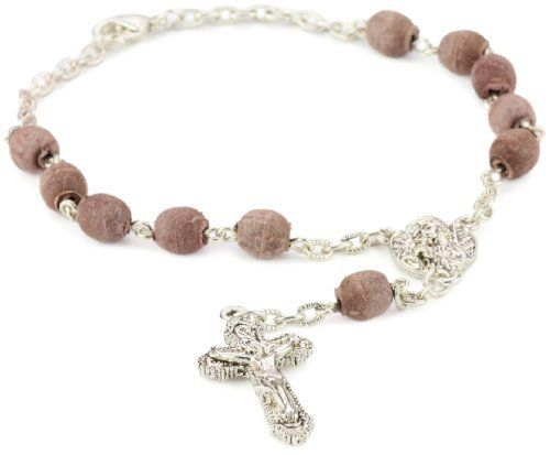 "The Vatican Library Collection Pressed Rose Petal Car Rosary The Vatican Library Collection. $28.00. Chain measures: 7 1/2""L x 1/4""W"