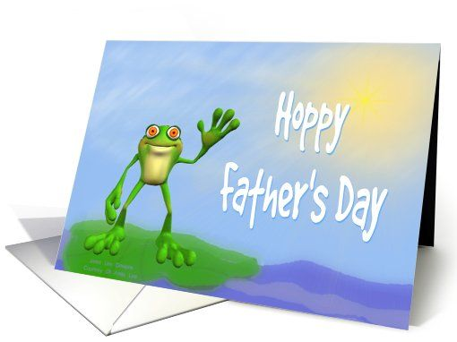 Hoppy Father's Day Frog-Humor Card. Recently purchased ny a customer in Massachusetts. Thank You!