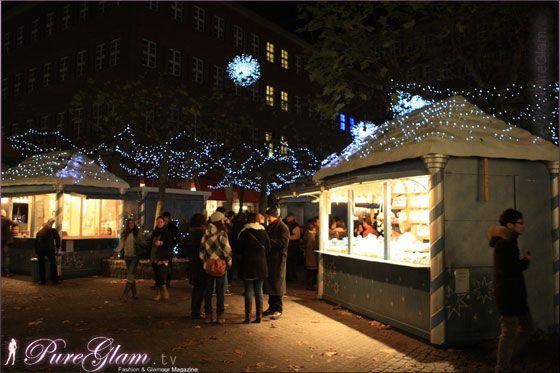 LED Weihnachtsmarkt – christmas market - Dusseldorf/Duesseldorf/Düsseldorf, Germany/Deutschland