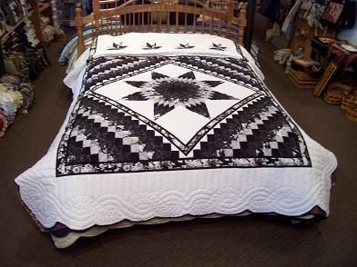 Lone Star Quilt Pattern Queen Size : lone star quilt pattern Boston Lone Star Quilt Queen :: Sold Quilts (Special Order Options ...