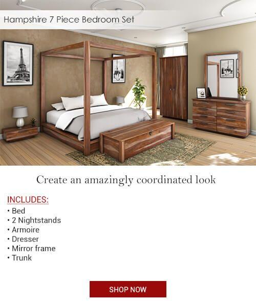 Hampshire 7 Piece Bedroom Set Furniture Home Room Design Bedroom Set