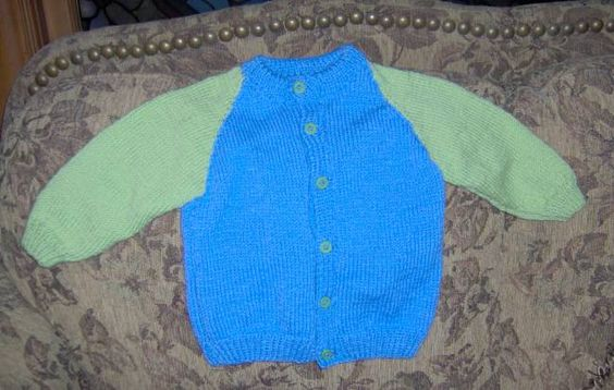 Sweater I knit for Head Start child