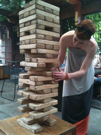 Life Size Jenga >> Awesome! We played a Giant at the Frio River. It was so ...