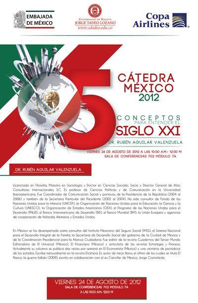 """2da. Cátedra México 2012 - 3: """"5 conceptos para entender el Siglo XXI""""."""
