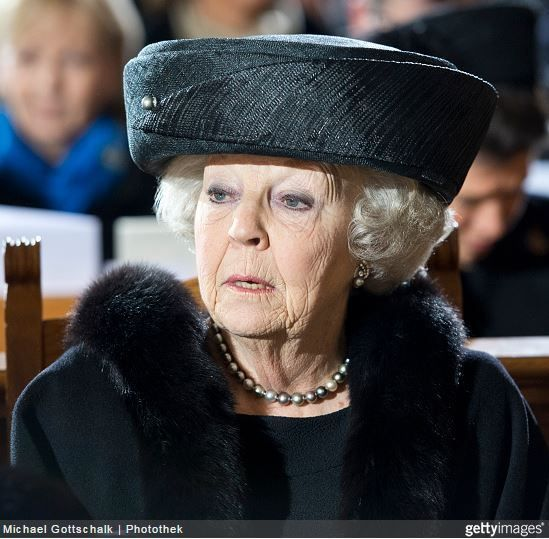 Princess Beatrix, February 11, 2015 in Suzanne Moulijn  | Royal Hats: