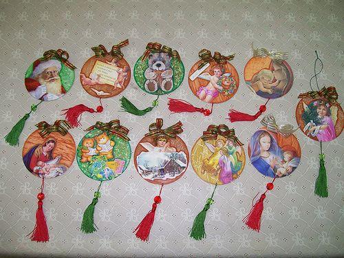 Mandalas hechos en cd buscar con google mandalas con - Buscar manualidades de navidad ...
