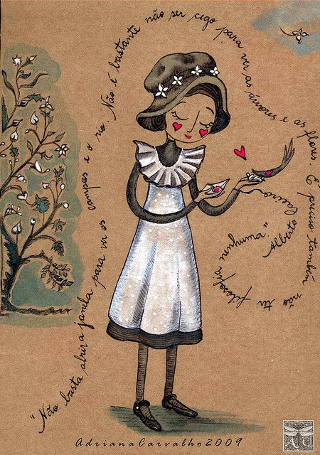 Cecília Meireles menina antiga by Arte Voadeira, via Flickr - poema de Fernando Pessoa: