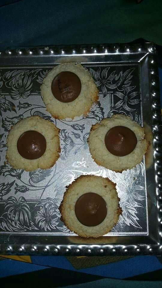 Kokos makronen met chocolade
