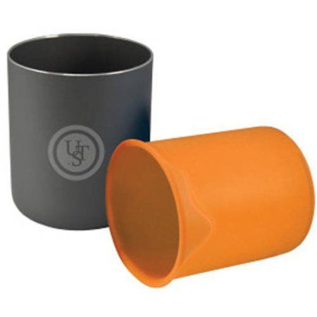 Ultimate Survival Technologies Double Up Ware Cup, Orange, Black