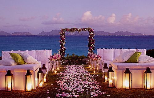 Eweddingmag Com Daily Inspiration Night Beach Weddings Dream Destination Wedding Sunset Wedding