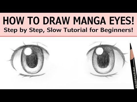 How To Draw Manga Eyes Step By Step Slow Tutorial For Beginners Youtube Manga Eyes How To Draw Anime Eyes Manga Drawing