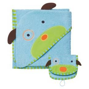 Skip Hop Zoo Toddler Towel and Mitt Set - Dog