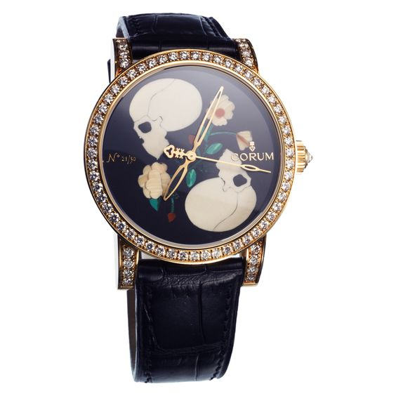 Two Skull And Flowers Corum Watch