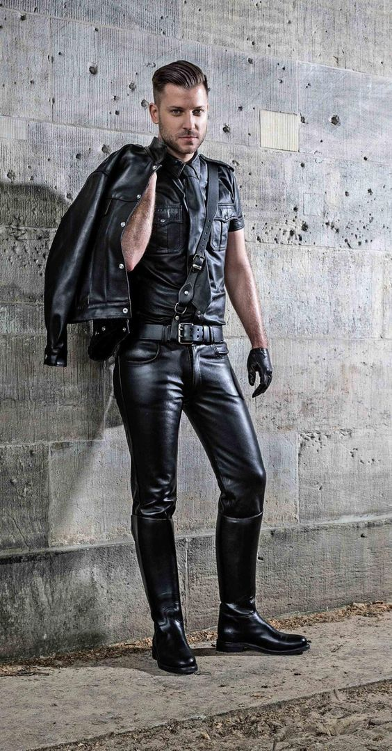 Leather Beards And Models On Pinterest
