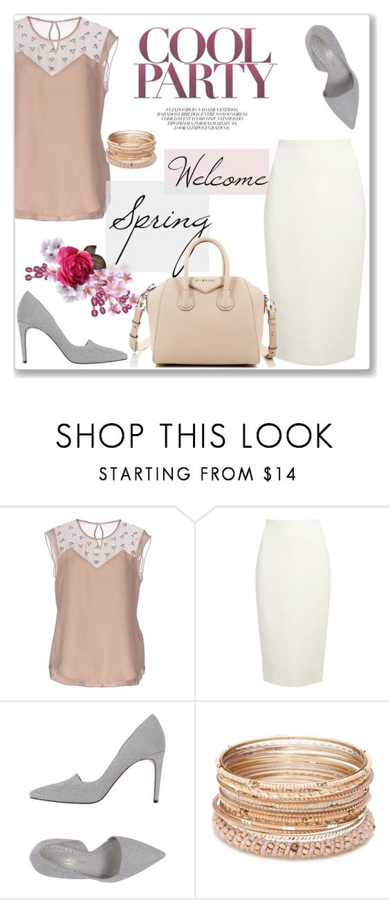 """""""Welcome Spring!"""" by lamiya-c ❤ liked on Polyvore featuring Rebecca Taylor, Donna Karan, Jean-Michel Cazabat, Red Camel and Givenchy"""