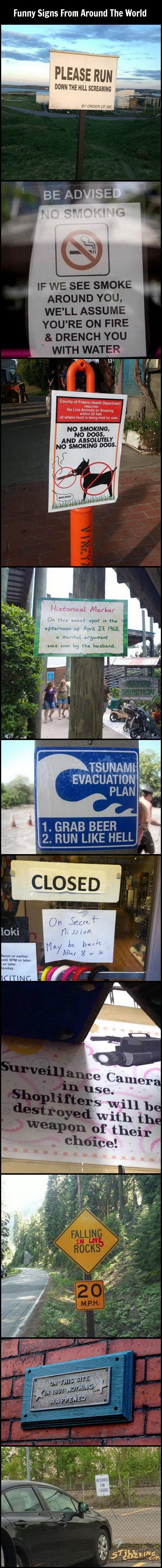 Funny Signs From Around The World: