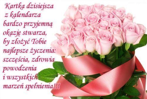 Kartka Pod Tytulem W Dniu Twoich Imienin Happy Birthday Birthday Wishes Christmas Advent