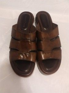 Cole Haan Leather Sandals Women's Size 8.B, Dark Brown