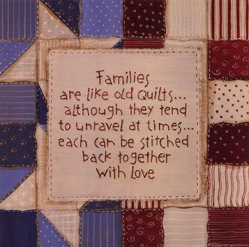 Family Quilts ~ Fine-Art Print - Quotations Art Prints and Posters - Inspirational Quotes Pictures