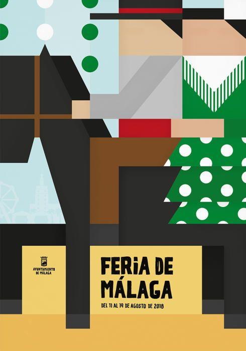 Cartel Finalista Feria de Malaga 2018. Titulo: agarrada a tu cintura