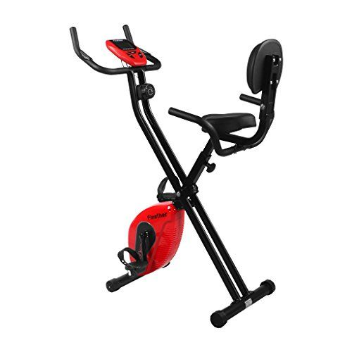 Finether Folding Magnetic Upright Exercise Bike Adjustable Fitness