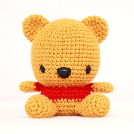 Amigurumi Face Ideas : Fat Face Bear Amigurumi Pattern Disney, Crocheted ...