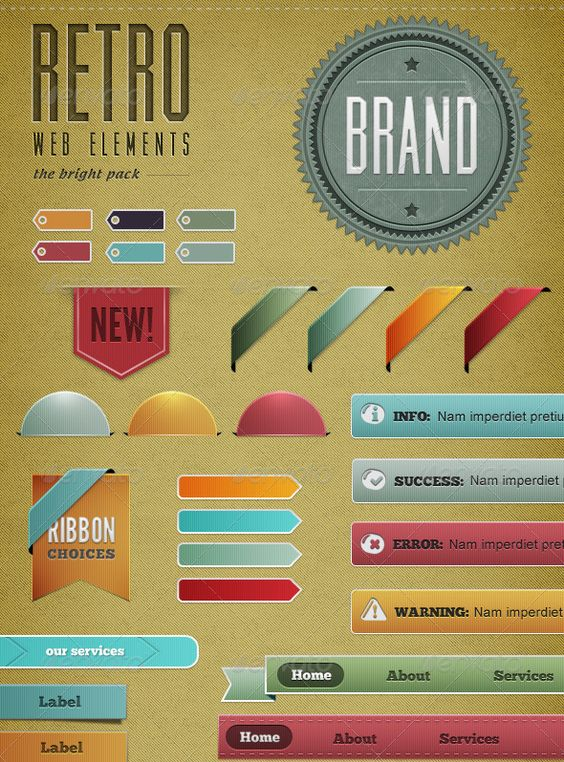 retro-web-elements