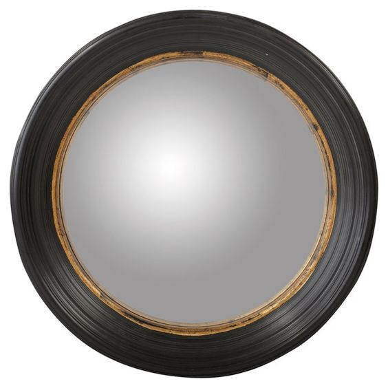 Oban mirror large plays large round mirror and round for Long black wall mirror