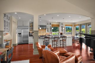 remove load bearing wall between kitchen and livingroom living room pinterest traditional