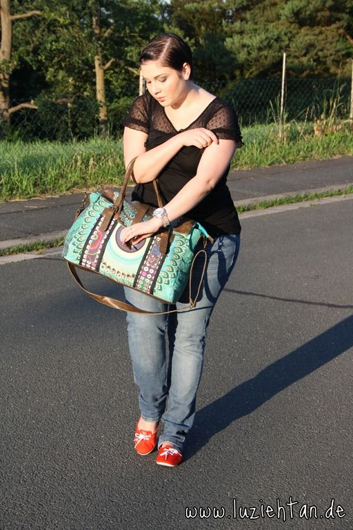 15.06.12 - wearing: shirt by Mango, jeans by s.Oliver Casual, ballerinas by adidas NEO, bag by Desigual and Michael Kors watch