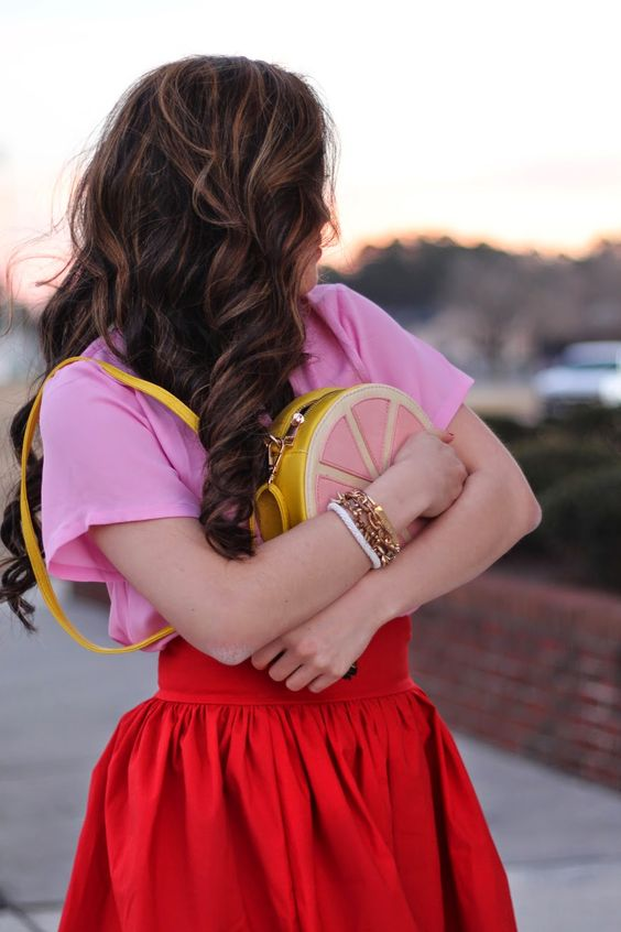 { Valentine's Day look: pink + red // @lulusdotcom }