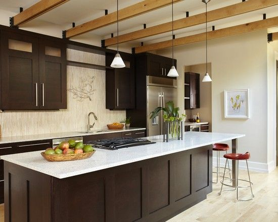 Light (travertine?) Floors, Dark Cabinets, White Counters | Kitchens |  Pinterest | Travertine Floors, White Counters And Travertine Part 87